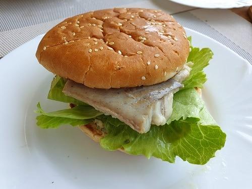 Fischburger vom Salzstein